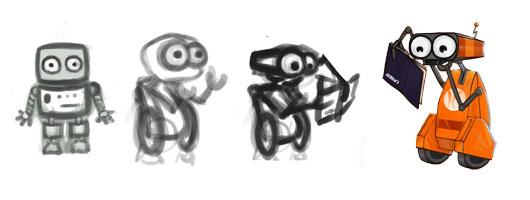Tys, robot mascotte de la librairie Ys